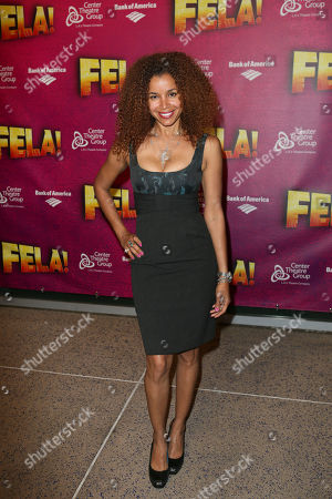 """Stock Photo of Actress Mari Morrow poses during the arrivals for the opening night performance of """"Fela!"""" at the Center Theatre Group/Ahmanson Theatre on in Los Angeles, Calif"""