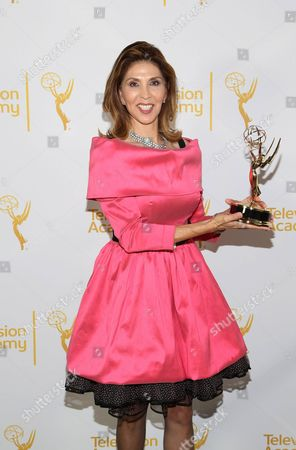 Stock Image of Miriam Hernandez poses at the Television Academy's 66th Los Angeles Area Emmy Awards on at The Leonard H. Goldenson Theater in the NoHo Arts District in Los Angeles