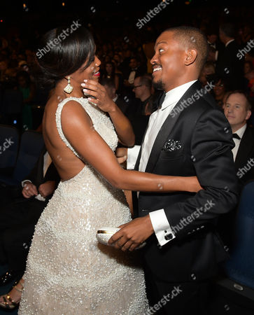 Regina King, left, and Ian Alexander, Jr. attend the 67th Primetime Emmy Awards, at the Microsoft Theater in Los Angeles