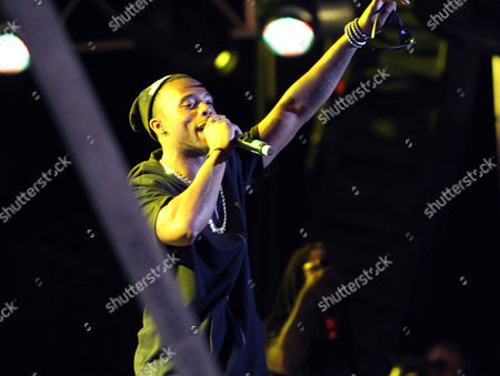 Stock Photo of Bobby Ray Simmons Jr B.o.B performs during KSU Homecoming Celebration at Fifth Third Bank Stadium at Kennesaw State University, in Kennesaw, GA