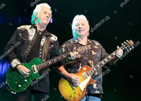Howard Leese and Mick Ralphs of the classic rock band Bad Company perform at the Event Center in the Sands Casino, in Bethlehem, Pa