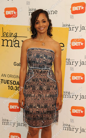 Latarsha Rose attends the Los Angeles screening of BET's Being Mary Jane at the Paley Center for Media, on in Beverly Hills, California