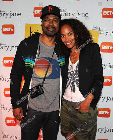 Salim Akil and Mara Brock Akil attend the Los Angeles screening of BET's Being Mary Jane at the Paley Center for Media, on in Beverly Hills, California
