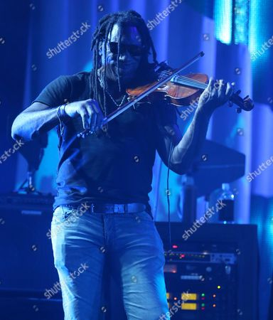 Boyd Tinsley of The Dave Matthews Band performs on stage at the Susquehanna Bank Center, in Camden, N.J