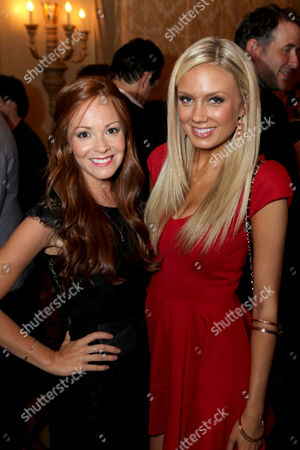 Stock Image of Emily Wilson, left, and Melissa Ordway attend the Daytime Emmy Nominee Cocktail Reception in Beverly Hills, Calif., on