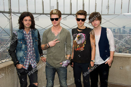 Editorial image of Hot Chelle Rae at Empire State Building, New York, USA