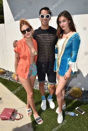 Tallulah Willis, from left, Jared Eng and Rainey Qualley attend the Just Jared 4th Annual Summer Bash presented by Uno, in Beverly Hills, Calif