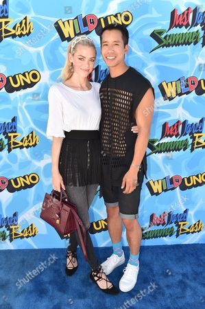 Jaime King, left, and Jared Eng attend the Just Jared 4th Annual Summer Bash presented by Uno, in Beverly Hills, Calif
