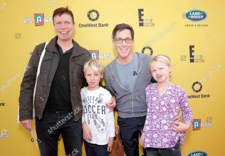 Writer/director Don Roos, Jonah Bucatinsky, actor Dan Bucatinsky and Eliza Bucatinsky attend P.S. Arts Express Yourself 2014 at Barker Hanger on in Santa Monica, Calif