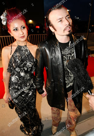 "Stock Picture of Billy Blair and Veronica Hernandez speak to the media during the red carpet premiere of ""The Last Stand"" at the AmStar Cinema 14, in Dallas"