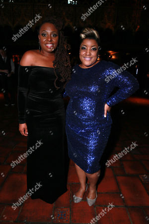 Ledisi and Anita Wilson seen at the Universal Music Group 2015 Grammy After Party presented by America Airlines and Citi held at The Ace Hotel, in Los Angeles