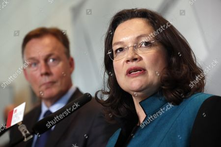 Andrea Nahles and Thomas Oppermann