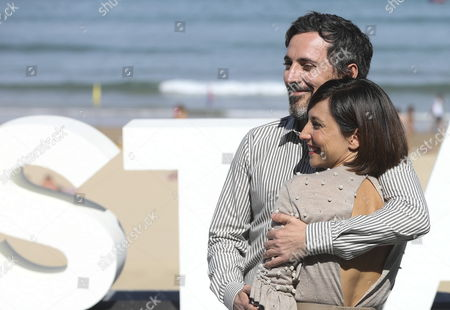 Spanish actors and cast members Marian Alvarez (R) and Andres Gertrudix pose during the photocall of the film 'Morir' (Lit: To Die'), directed by Fernando Franco, at the San Sebastian International Film Festival, in San Sebastian, northern Spain, on 27 September 2017. The 65th Donostia Zinemaldia Festival runs from 22 to 30 September.