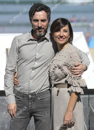 Spanish actors and cast members Marian Alvarez (R) and Andres Gertrudix poses during the photocall of the film 'Morir' (Lit: To Die'), directed by Fernando Franco, at the San Sebastian International Film Festival, in San Sebastian, northern Spain, on 27 September 2017. The 65th Donostia Zinemaldia Festival runs from 22 to 30 September.