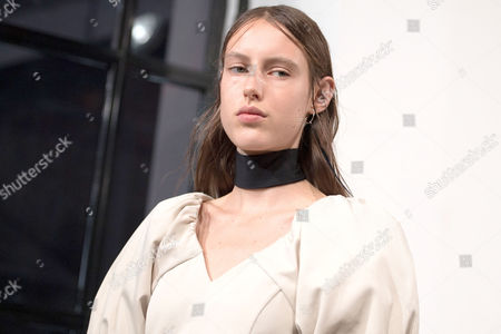 A model presents a creation from the Spring/Summer 2018 Ready to Wear collection by Finnish designer Tuomas Merikoski for Aalto during the Paris Fashion Week, in Paris, France, 27 September 2017. The presentation of the Women's collections runs from 25 September to 03 October.