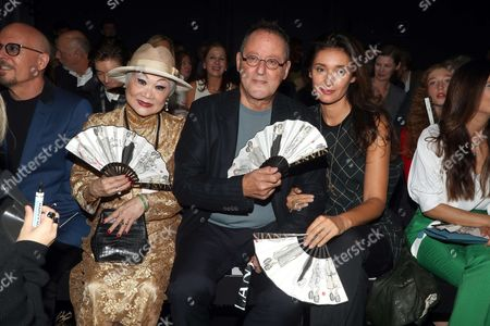 Stock Photo of Lanvin owner Shaw-Lan Wang, Jean Reno and Zofia Borucka