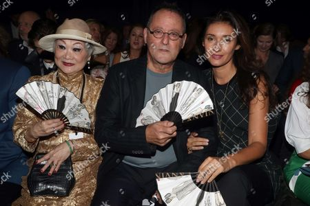 Lanvin owner Shaw-Lan Wang, Jean Reno and Zofia Borucka