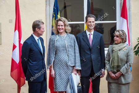 Luxembourg Grand Duke Henri of Luxembourg, Princess Sophie of Isenburg, Alois, Hereditary Prince of Liechtenstein and Luxembourg Grand Duchess Maria Teresa of Luxembourg