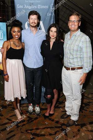 """Actors Gail Bean, from left, Anders Holm, Cobie Smulders, and The Film Arcade Co-founder Andy Bohn attend the """"Unexpected"""" Screening and Q&A held at Sundance Sunset Cinemas on in Los Angeles"""