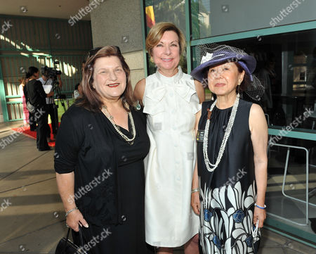 LOS ANGELES, CA - AUGUST 21: Costume Designer Julie Weiss, Director, FIDM Museum & Galleries Barbara Bundy and Television Academy governor of design & supervision Mary Rose pose at the 2011 Academy of Television Arts and Sciences 'Costume Design & Supervision Peer Group Reception' held at the FIDM/Fashion Institute of Design & Merchandising in Los Angeles California on