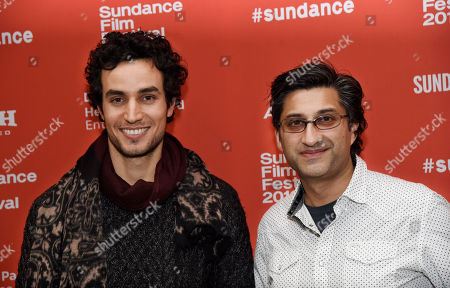 "Asif Kapadia, right, director of ""Ali & Nino,"" and cast member Adam Bakri pose together at the premiere of the film at the 2016 Sundance Film Festival, in Park City, Utah"