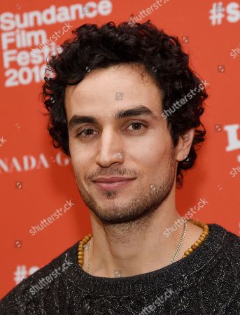 "Adam Bakri, a cast member in ""Ali & Nino,"" poses at the premiere of the film at the 2016 Sundance Film Festival, in Park City, Utah"
