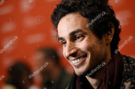 "Adam Bakri, a cast member in ""Ali & Nino,"" is interviewed at the premiere of the film at the 2016 Sundance Film Festival, in Park City, Utah"