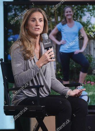 Athlete Brandi Chastain participates in AOL's BUILD Speaker Series at AOL Studios, in New York