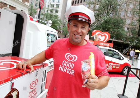 Honorary Good Humor Man Kevin Millar unveiled the Good Humor Joy Squad and handed out frozen treats at Sam Adams Park in Boston on . Follow @GoodHumor on Twitter as the Joy Squad travels around Boston this summer