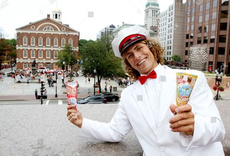 The Good Humor Man helps kick off Good Humor's Welcome to Joyhood campaign in Boston by handing out free frozen treats at Sam Adams Park on . Follow @GoodHumor on Twitter as the Joy Squad travels around Boston this summer