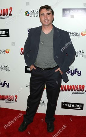"Anthony Ferrante seen at Sharknado 2: The Second One"" at Regal Cinema at L.A. Live Theatre on in Los Angeles, California"