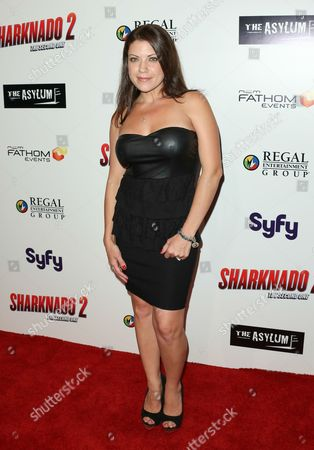 """Stock Photo of Tiffany Shepis seen at Sharknado 2: The Second One"""" at Regal Cinema at L.A. Live Theatre on in Los Angeles, California"""