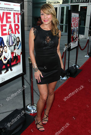 """Stock Picture of Sun Nea arrives on the red carpet at a special screening for """"I Give It A Year"""" at the on in Los Angeles"""