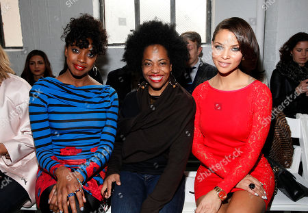 Condola Rashad, Rhonda Ross and Denise Vasi attend Tracy Reese 2014 Fall/Winter Collection during Mercedes Benz Fashion Week on in New York