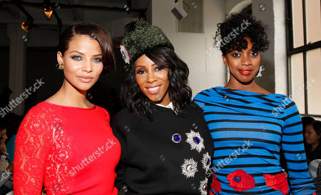 Denise Vasi, June Ambrose and Condola Rashad attend Tracy Reese 2014 Fall/Winter Collection during Mercedes Benz Fashion Week on in New York