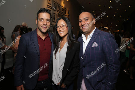 George Stroumboulopoulos, Lisa Nishimura, Netflix Vice President of Independent Content Acquisition and Russell Peters seen at Netflix's 'Russell Peters: Notorious' Screening and Q&A at 2013 TIFF, on Monday, Sep, 9, 2013 in Los Angeles