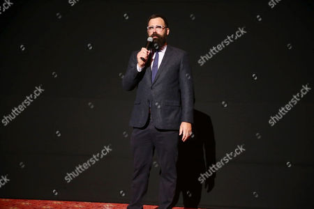"""Stock Picture of Director Jared Hess seen at Relativity Studios Presents """"Mastermind"""" Los Angeles Premiere at TCL Chinese Theatre, in Hollywood"""