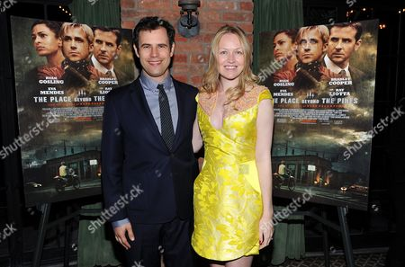 "Producers Alex Orlovsky, left, and Lynette Howell attend the premiere party for Focus Features' ""The Place Beyond The Pines"" at The Bowery Hotel on in New York"