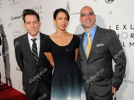 From left, Joey Horvitz, Lance Still and Mark Longberg attend The Weinstein Company and Lexus Present Lexus Short Films at the Directors Guild of America Theater, in Los Angeles