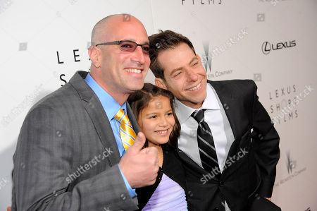 Stock Photo of From left, Mark Longberg, Madison Steinacker and Joey Horvitz attend The Weinstein Company and Lexus Present Lexus Short Films at the Directors Guild of America Theater, in Los Angeles