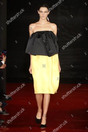 Leila Goldkuhl on the catwalk