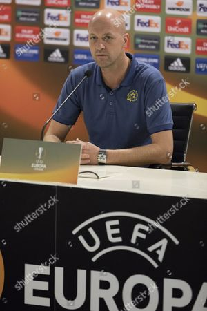 Jordi Cruyff, head coach Maccabi Tel-Aviv during their training in Netanya, Israel, 27 September 2017, one day ahead of their UEFA Europa League match against Villarreal.