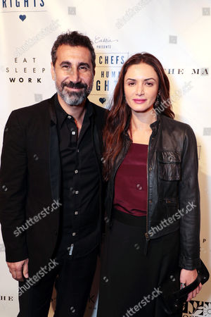 Stock Photo of Serj Tankian and Angela Madatyan