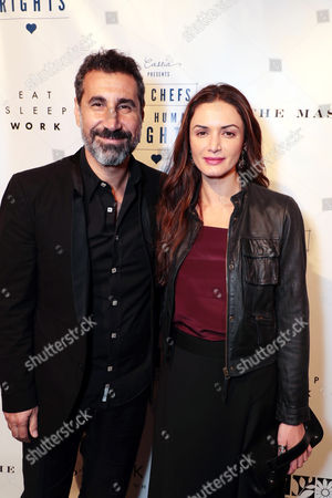 Stock Image of Serj Tankian and Angela Madatyan