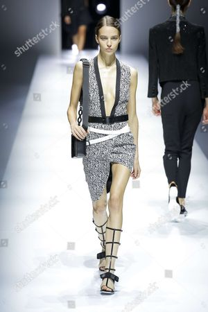 Stock Image of Emm Arruda on the catwalk