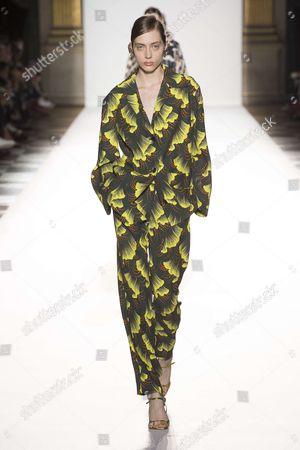 Stock Picture of Odette Pavlova on the catwalk