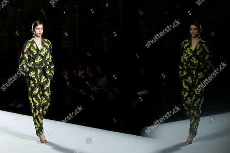 Stock Photo of Odette Pavlova on the catwalk