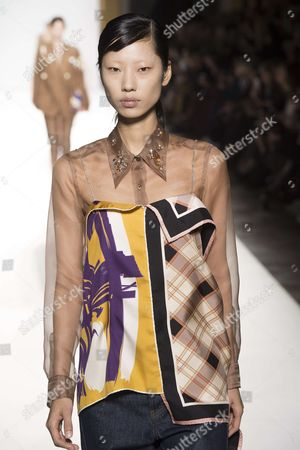 Stock Photo of Heejung Park on the catwalk