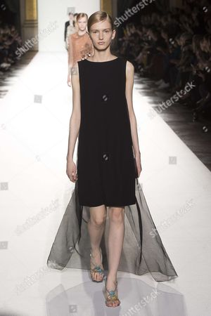 Stock Picture of Mia Brammer on the catwalk
