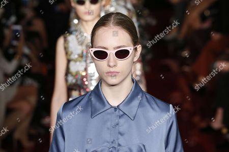 Stock Photo of Lia Pavlova on the catwalk